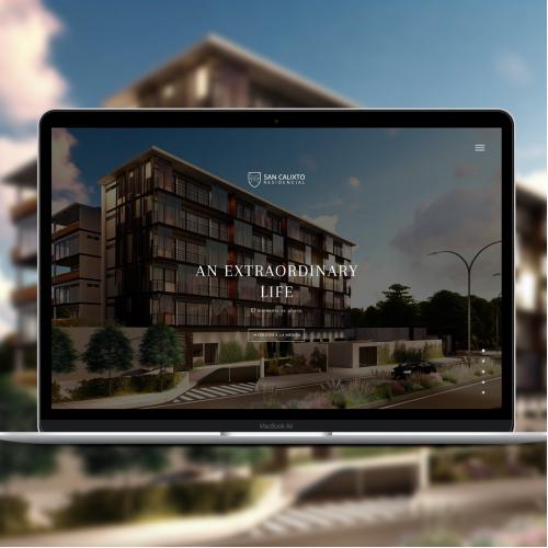 Luxury Residential Estate Website Design Concept