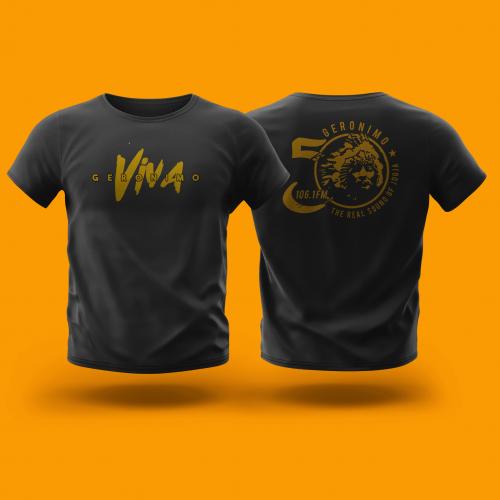 Tshirt Design For Radio Geronimo FM Anniversary
