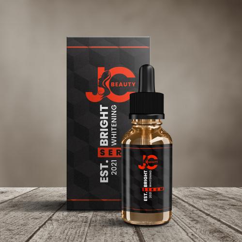JC Beauty Serum Packaging Design
