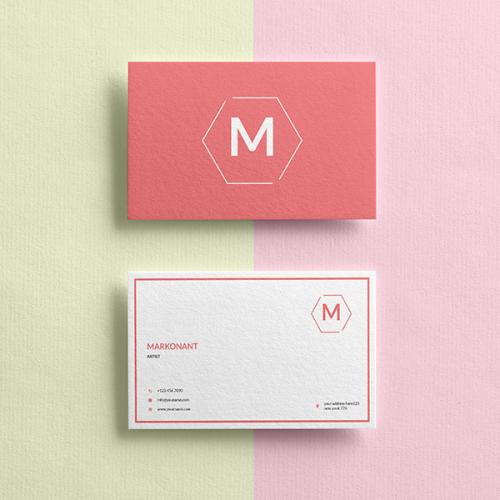 Clean business card design