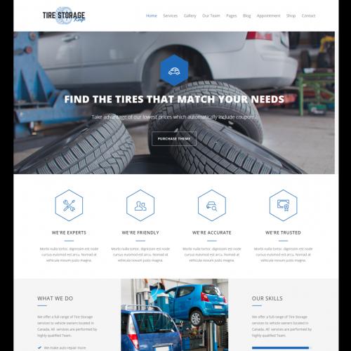 Car Tires Services Website