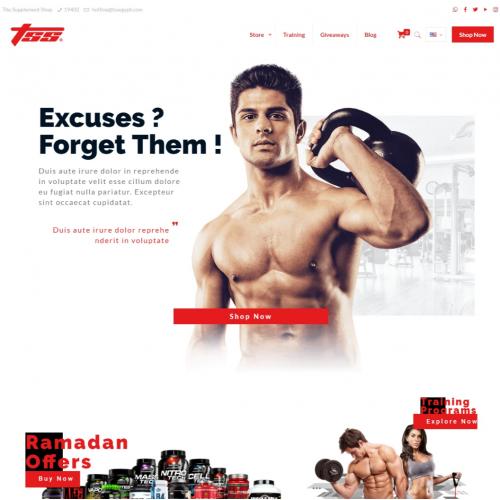 Supplement Store Website