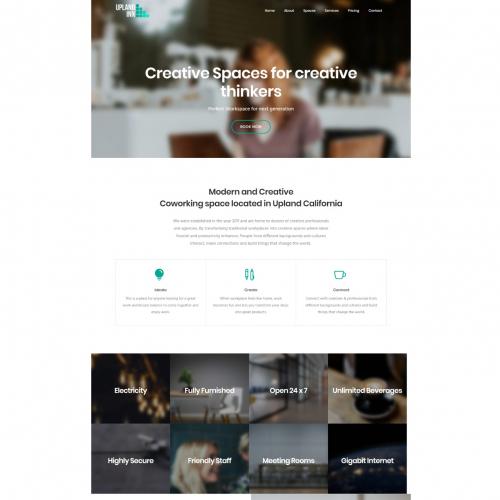 Work Space Website Design