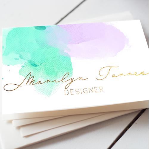 Watercolour Business Card