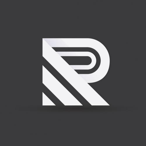 Geometric R letter