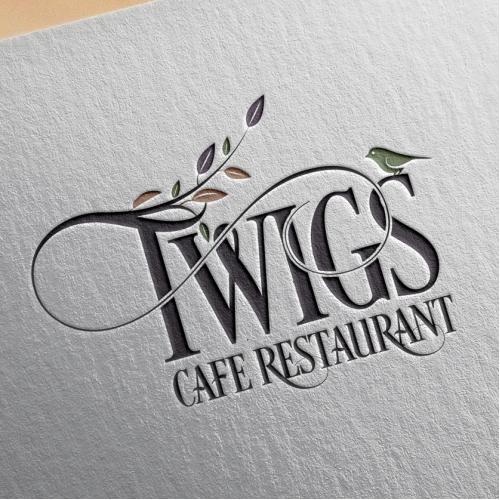 A creative logo design for Twigs Cafe Restaurant