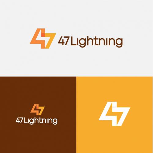 47 Lightning Logo design