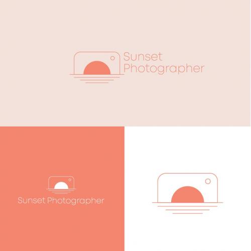 sunset photography Logo design