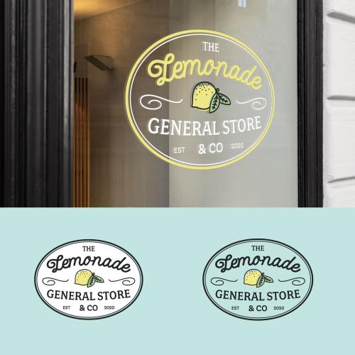 Lemonade store vintage logo design