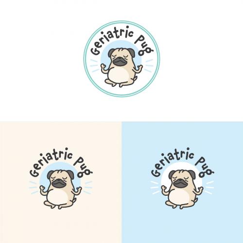 Logo for an Instagram pug