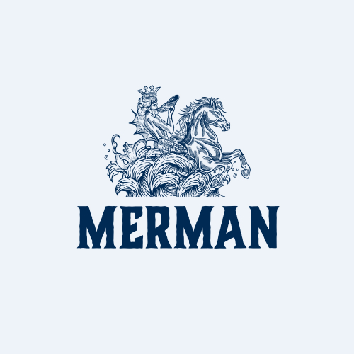 merman (hand drawing logo) name can be changed