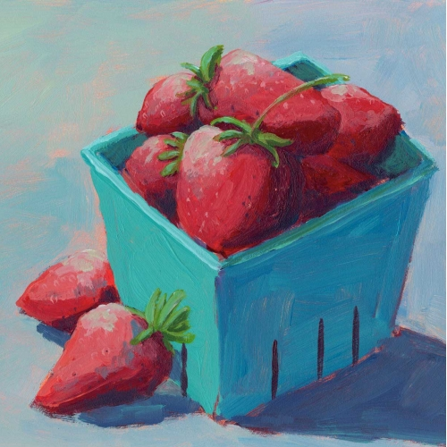 Acrylic Painting of Strawberries