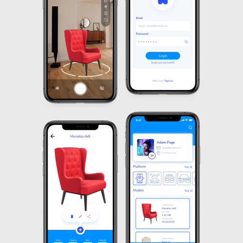 UI For Augmented Reality app