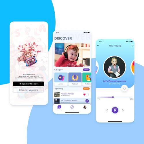 Podcast/ Media app for kids