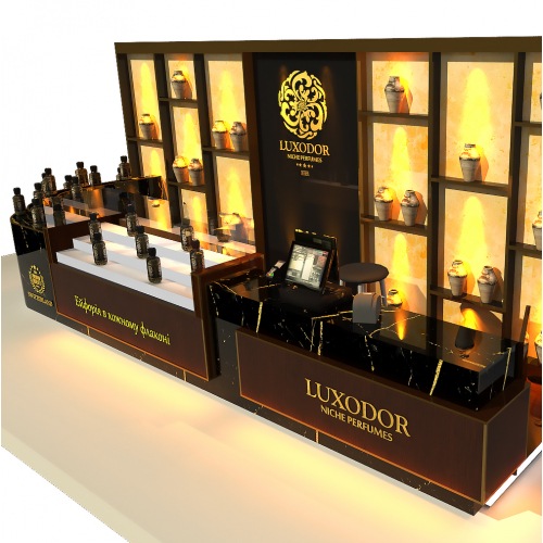 small kiosk/exhibition stall 3d rendering