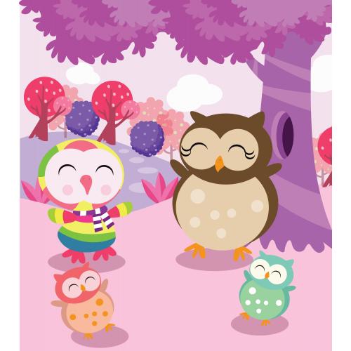 Rainbow owl celebrating.