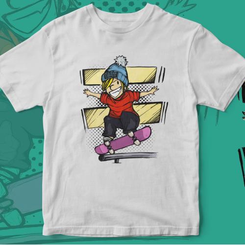 Skater Calvin Hipster Design