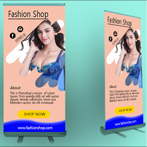 Business Roll up banner design for rank your business.