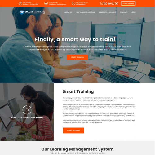 Smart Training web design