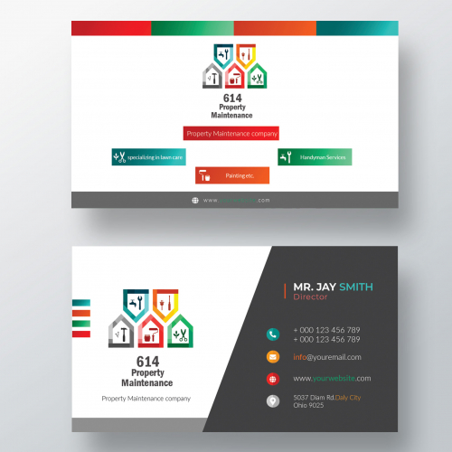 Modern Business Card for Cleaning Service