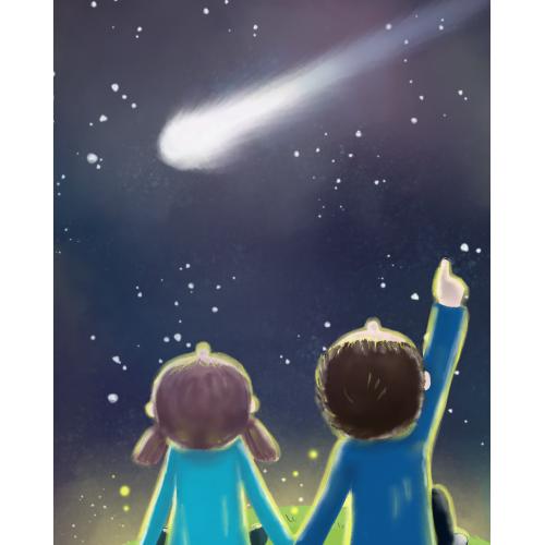 Valentine's under the night sky