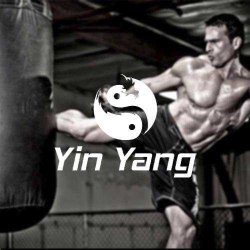 Yin yang and dragon