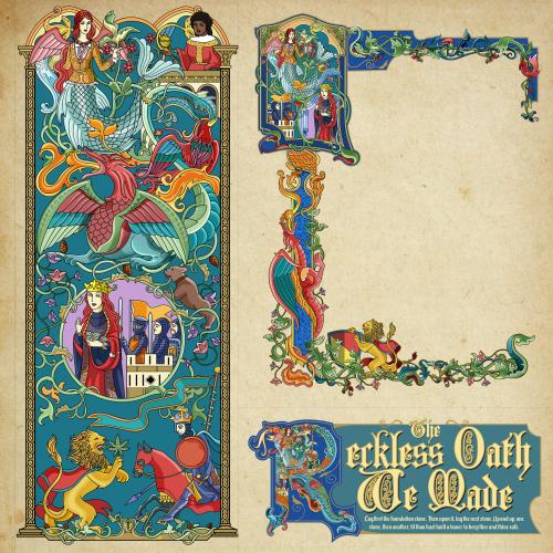 bookmark and bookplate artwork