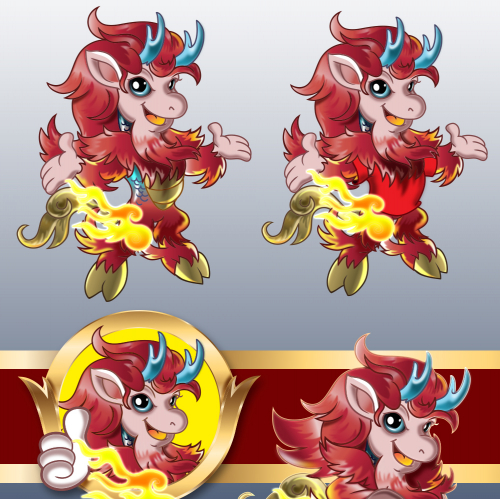 kirin mascot for theme Park