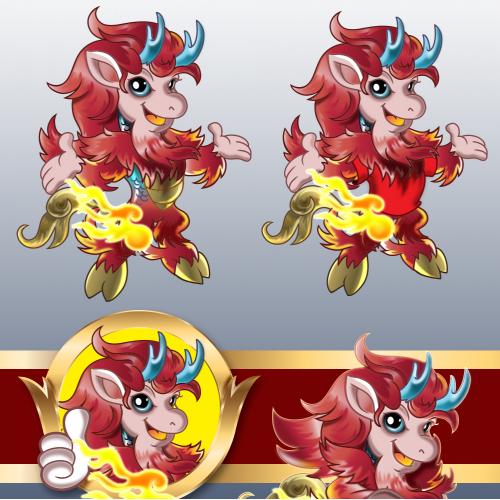 kirin mascot for theme Park