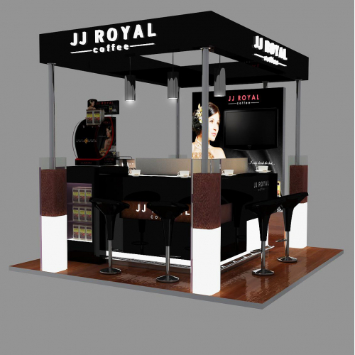 booth design JJ Royal Coffee