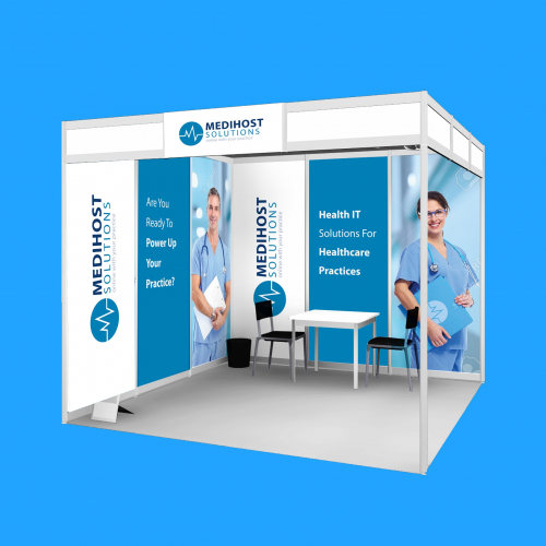 Media Host Solutions Exhibition Booth