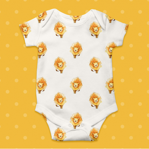 Lion Pattern for baby apparel