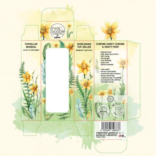 Watercolor Spring flower box design