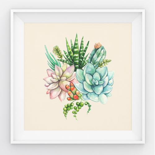 Cactus and Succulent Print