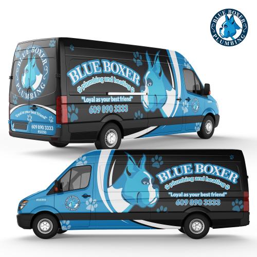 Blue Boxer Full Wrap Design
