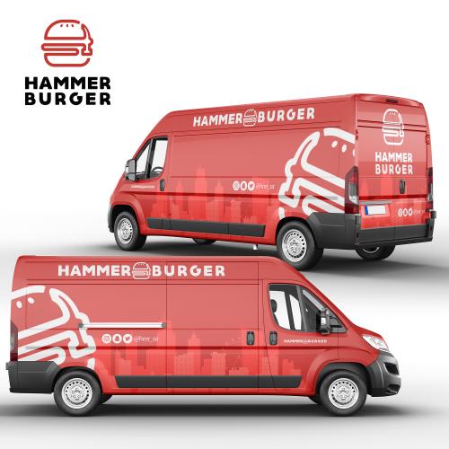 Hammer Burger Full Wrap Design