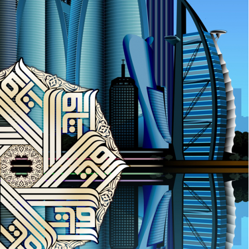 Dubai and Abu Dhabi Skyline