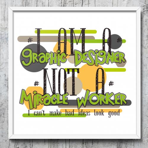 I am a graphic designer...
