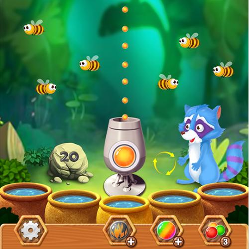 Bubble shot mobile game design