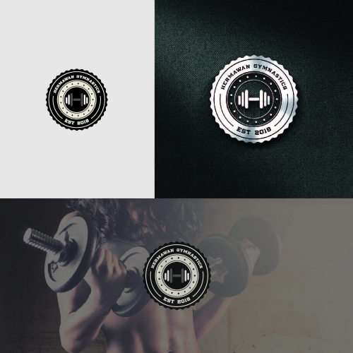 hermawan gym logo design