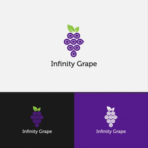 infinity grape logo design