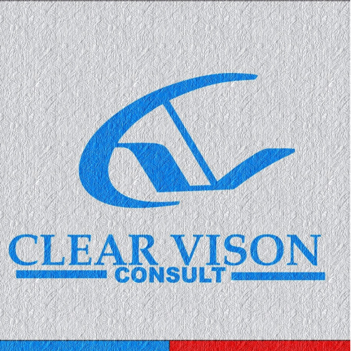 sya make a cool logo for clear vision, with modern styl