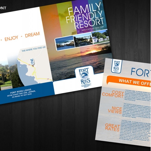 Family Resort brochure template