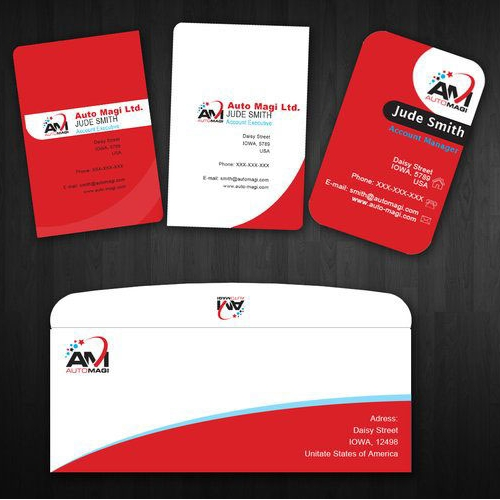 Stationery design for AM