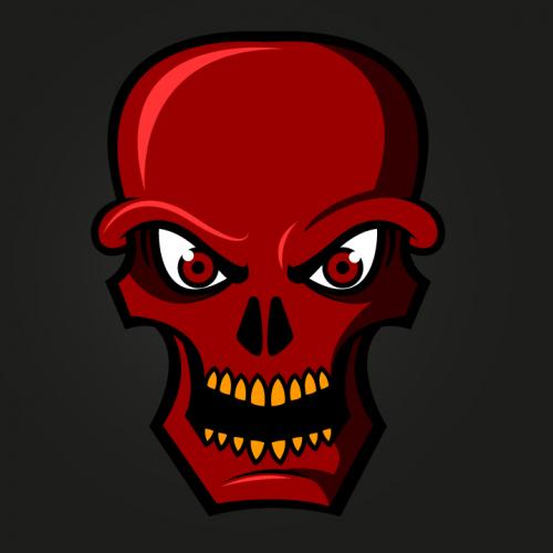 Red Skull logo for sale