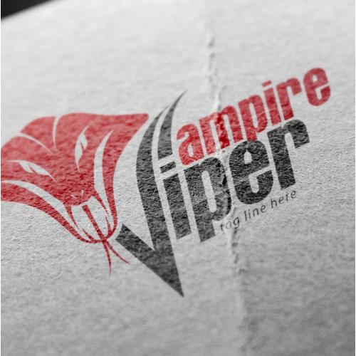 viper vampire cars logo design