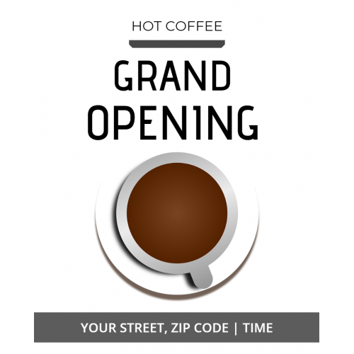 HOT COFFEE GRAND OPENING