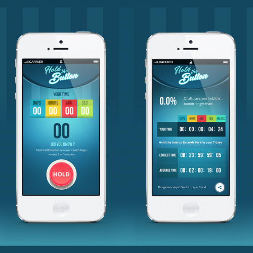 Hold The Button App Design