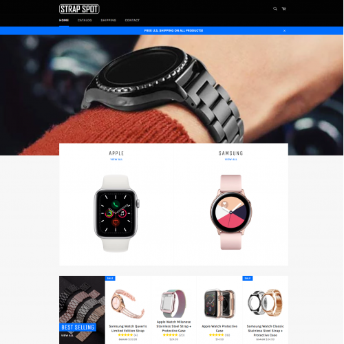 Web design for Strap Spot