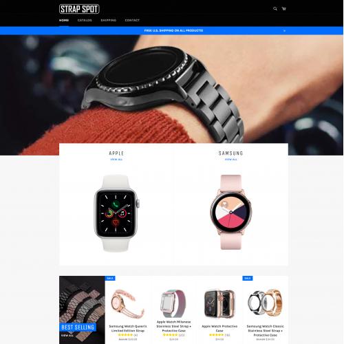 Web design for Strap Spot
